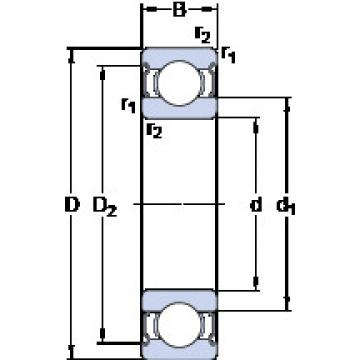 Bearing D/W R1-4-2Z SKF