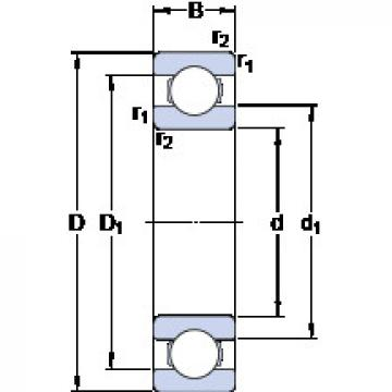 Bearing D/W ER1634 SKF
