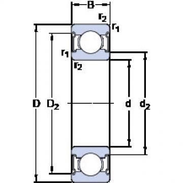Bearing D/W R6-2Z SKF