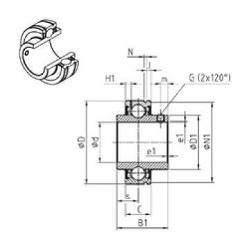 Bearing CUC205-14 SNR