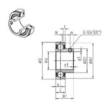 Bearing CUS206-18 SNR