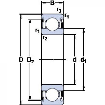 Bearing D/W ER1458-2ZS SKF