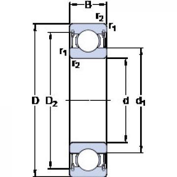 Bearing D/W R6-5-2ZS SKF