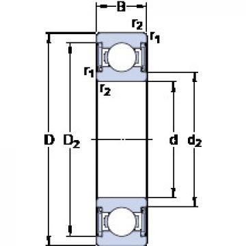 Bearing D/W R6-2RS1 SKF