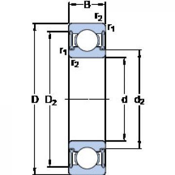 Bearing D/W R4A-2RZ SKF