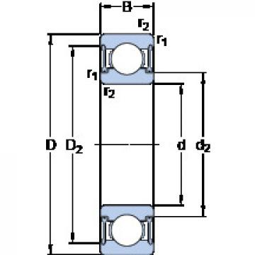 Bearing D/W R6-2RZ SKF