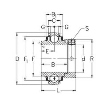 Bearing GNE70-KRRB NKE