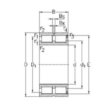 Bearing NNCF5022-V NKE