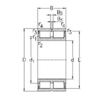 Bearing NNCL4880-V NKE